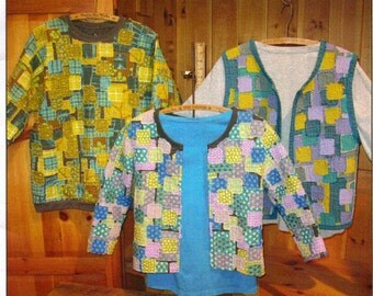 Quilted Sweatshirt Jacket Pattern, Quilt Clothes, Quilted Sweatshirt Sew, Re-purposed Sweatshirt, I Can't Believe it's a Sweatshirt Jacket