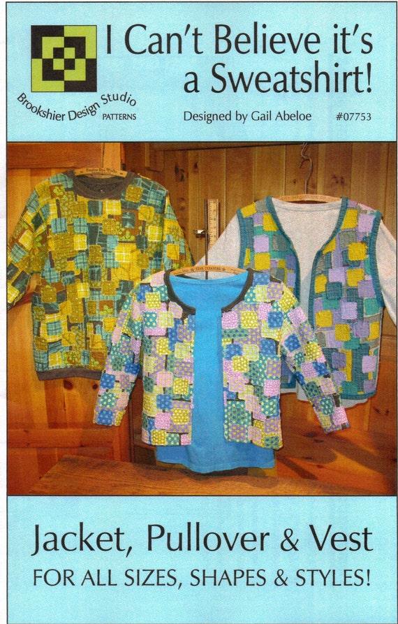 Quilted Sweatshirt Jacket Pattern, Quilt Clothes, Quilted ... : quilted sweatshirt jacket - Adamdwight.com