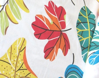 Autum Leaves - IKEA Jonill Linen / Cotton Blend Fabric