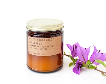 No. 25: NIGHTSHADE - 7.2 oz soy wax candle - florals  / bergamot / black peppercorn - P.F. Candle Co.