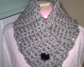Chunky Button Scarf Crochet Neckwarmer