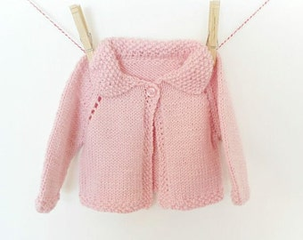 Baby Sweater, Knit Baby Sweater, Baby Girl Sweater, Hand Knit Baby Sweater, Sweater