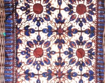 Batik Placemats Set Made in India Vintage 70s