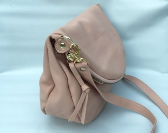 Alberta leather bag in blush