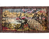 Vintage Peacock Tapestry
