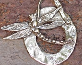 Artisan Dragonfly Pendant Sterling Silver, Follow Your Dream
