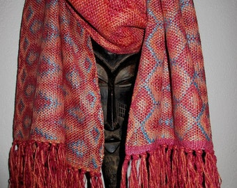 Handwoven Wrap/Scarf, Chenille and Silk
