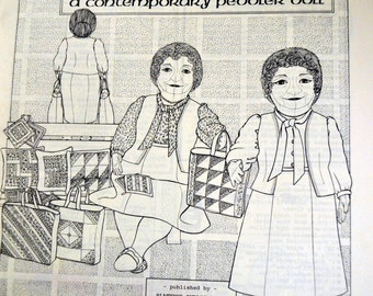 Phoebe Contemporary Peddler Doll  Pattern 24 inch Colette Wolff Pattern Platypus Publications UNCUT