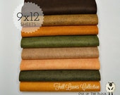 Fall Leaves Collection, Wool Blend Felt, Wool Felt Sheets, Wool Felt Fabric, Felt Fabric Bundle, Wool Felt Bundles, Felt Collections