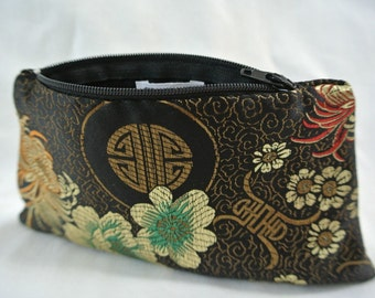 Black Evening Bag , Brocade Pouch , Evening Clutch , Small Clutch Purse , Evening Handbag , Wedding Bag , Floral Print , Clutch , Handbag