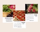 2017 Farmers Market Calendar, 2017 Vermont Food Photography Calendar, 2017 Desk Calendar,  Kitchen Calendar