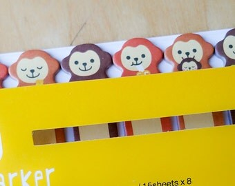 Sticky Marker/Sticky Note Memo - Monkeys