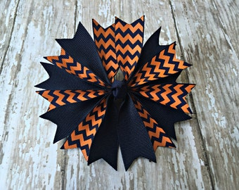 Auburn Inspired Hair Bow Girls Hair Bow Auburn Inspired Game Day Hair Bow Auburn Tigers Bow Auburn Tigers Hair Bow
