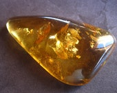Large Dominican Republic Amber piece for wire wrapping - 2 1/2 inches X 1 1/2 inches