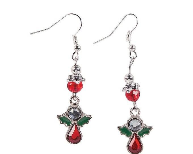 Rhinestone Angel Earrings
