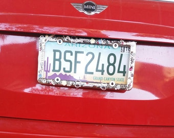 HairStylist Bling License Plate Holder
