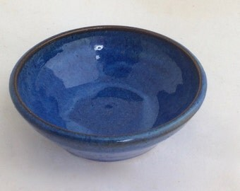 discounted-handmade blue serving bowl-ceramic fruit bowl-pottery- mixing bowl-everyday bowl- in stock-gift-  B73
