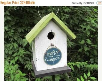 SUMMER SALE Happy Camper Birdhouse Camping Fun Primitive
