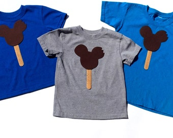 Mouse Chocolate Ice Cream Bar //Birthday//Gender Neutral// Fabric Iron On Appliques