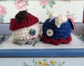 RESERVED FOR mcgregorswench- Captain America, Darcy Lewis, & Bucky Barnes flapjack octopi