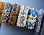 Set of 5 Antique African Millefiori  Trade Beads