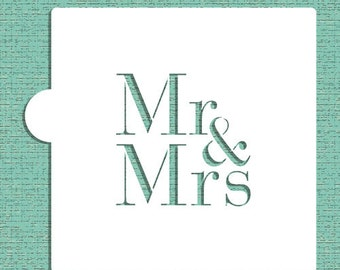 Mr & Mrs Cookie and Craft Stencil - Designer Stencils (CM037)
