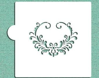 Heart Oval Cookie and Craft Stencil - Designer Stencils (CM047)