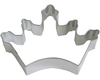 Crown Tiara Cookie Cutter 5 in  - for cookie dough, fondant, craft clay, bread, candy, brownies, soft fruit, and marshmallows  (B1062)