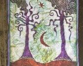 Two Trees Batik Fabric Print Patch
