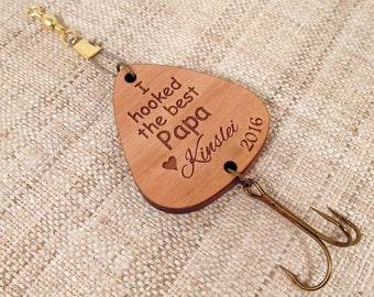 Father's Day Fishing Lure - Personalized Father's Day Gift - Fishing Hook for Grandpa, Papa, Dad, Daddy, Papi, Poppy
