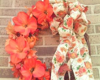 Autumn Wreath ,   Fall Wreath  , Wreaths , Front Door Wreath