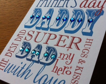 Typographic Father's Day Card
