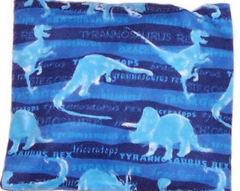 CLEARANCE - Children's Heating Pad  Boo Bag, Ouchie Pack, Removable Cover,  Blue Dinosaur Flannel Fabric - Flaxseed Rice Mix - Unscented