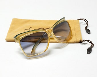 80s Oversized vintage sunglasses by YSL model 7955 in NOS condition