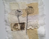 Textile Art Piece - Pods
