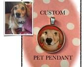Custom Pet Pendant - Pet Portrait - Cute Pet Jewelry - Pet Lover Gifts - Pet Necklace