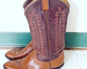 Vintage Tony Lama Western Boots Mens 9.5, Vintage Cowboy boots