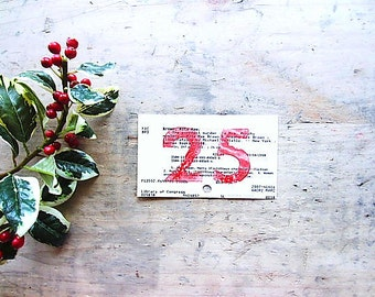 Wedding Table Numbers, Library Theme Wedding, Advent Calendar Numbers, Christmas Party, Holiday Entertaining