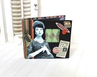 Vintage Scrapbook Album, Memories Book, or Photo Album