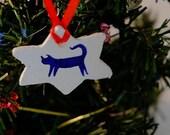 WINTER SALE Christmas Tree Ornament Decoration Cat