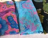 2 Vintage India Gauze Scarves Large to Wrap and Wear , Cotton Gauze, Festival Gypsy Maiden