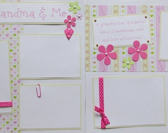 MY GRANDMA & ME 12x12 Premade Scrapbook Pages