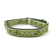 "3/4"" Folk Raccoon martingale or buckle dog collar"