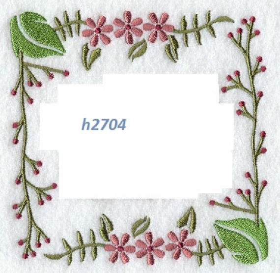 Quilt label h machine embroidered personalized by