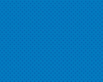 SALE fabric, Discount fabric, Star fabric, Blue fabric, Polka dot Stars, Patriotic fabric, You choose the cut. Free Shipping Available