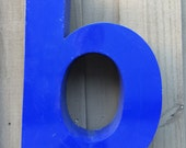 Just the B...VINTAGE DECOR...B A R ~ green blue ~ industrial metal ~ sign ~ wall decor ~ steampunk ~ kitchen lounge ~rare find