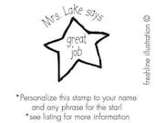personalized teacher gift, gift for teacher, great job stamp, teacher stamp, custom teacher stamp