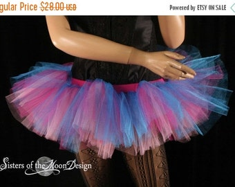 SALE Tutu skirt Adult Glimmer Peek a boo mini dance costume halloween roller derby EDC gogo run - Ready to ship - Medium- Sisters of the Moo