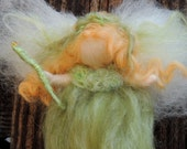 Reserved for Bonnie - Wool Angels - Green fairy, Rainbow Fairy, and The Woods Fairy -  Needle felted Waldorf inspired by Rebecca Varon