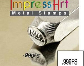 ImpressArt Metal Design Stamp, 2mm .999FS Design Jewelry PMC